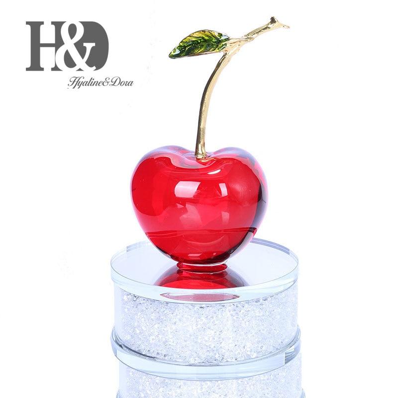 H&D Crystal Fruit Napoleon Cherry Shape Figurine Ornament Home Decor (Red)H&D Crystal Fruit Napoleon Cherry Shape Figurine Ornament Home Decor (Red)