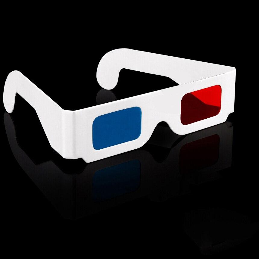 2pcs/lot Universal Paper Anaglyph 3D Glasses red cyan (blue) 3D glasses paper sizes 3 points, 2pcs/LOT 3D glasses