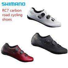 цена Shimano RC7 Carbon Road Bicycle Cycling Bike Shoes SH-RC701 free shipping онлайн в 2017 году