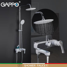 GAPPO shower faucets bathroom shower faucet bath shower set mixer bathroom waterfall rain shower panel bath mixer цена в Москве и Питере