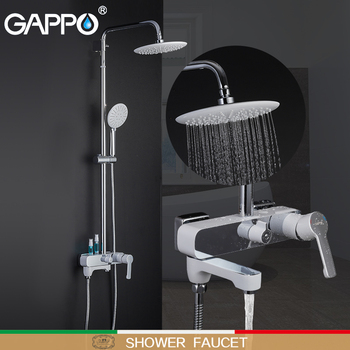 GAPPO shower faucets bathroom shower faucet bath shower set mixer bathroom waterfall rain shower panel bath mixer frap digital bathroom shower mixer with display bath shower faucet system set wall mount mixer digital display shower panel