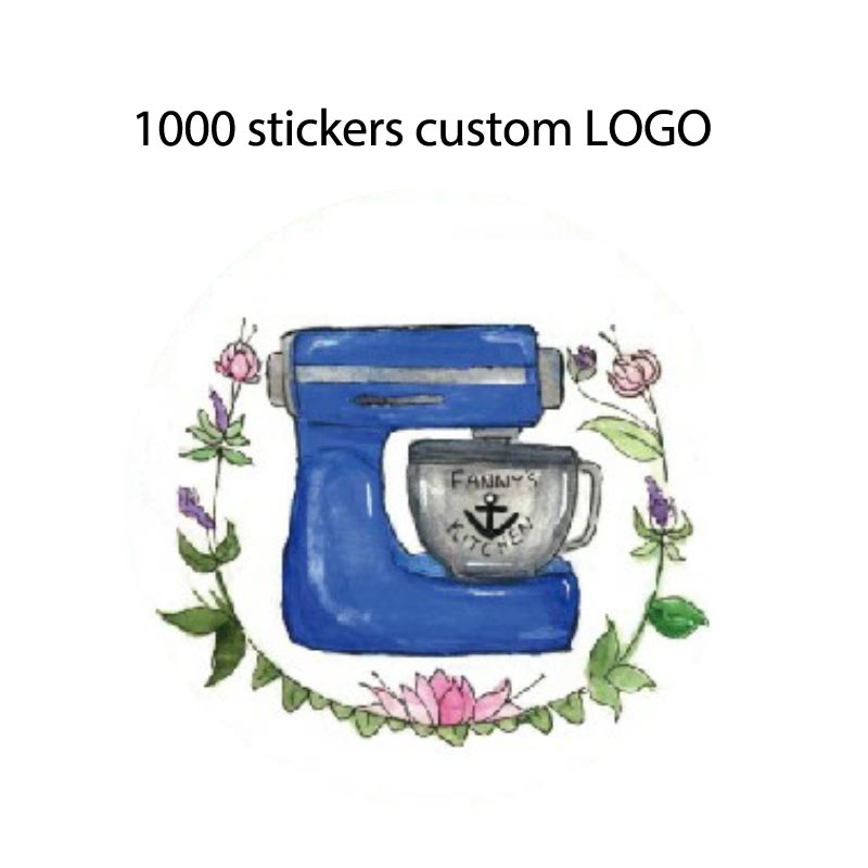 1000PCS Customize Stickers Logo Print Promotional Custom Stickers LOGO Label Invitation Card Thank You Card Custom