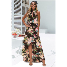 dress women  summer plus size dresses gothic mama womens sexy clothes beach style print hollow out black
