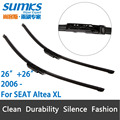 "Escovas para SEAT Altea XL (a partir de 2006) 26 ""+ 26"" Ajuste Garra Tipo Limpador braços Só"