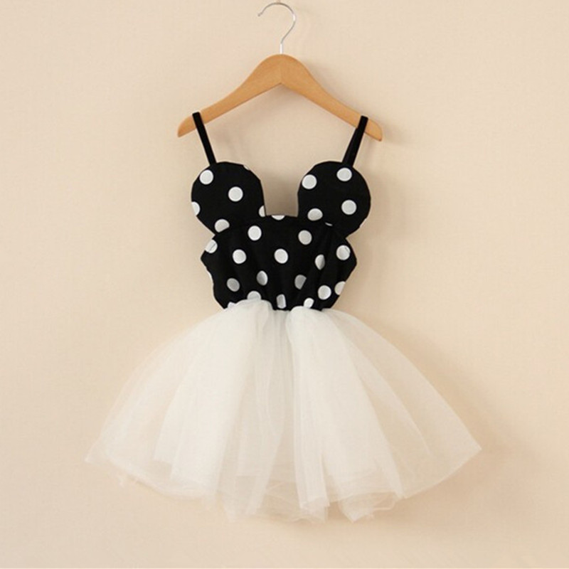 2017 Fashion Baby Dress Sleeveless Princess Girls Clothes Autumn Winter Children Dresses For Girl Polka Dot Clothing Vestidos new fashion autumn winter girl dress polka dot