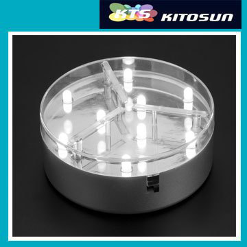 3AA Battery Operated 4inch Mirror Center Round Led Centerpiece Light Base For Wedding Decoration