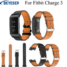 Smart Accessories Replacement Classic Leather Watch Band Wrist Strap For Fitbit Charge 3 Watchband Straps