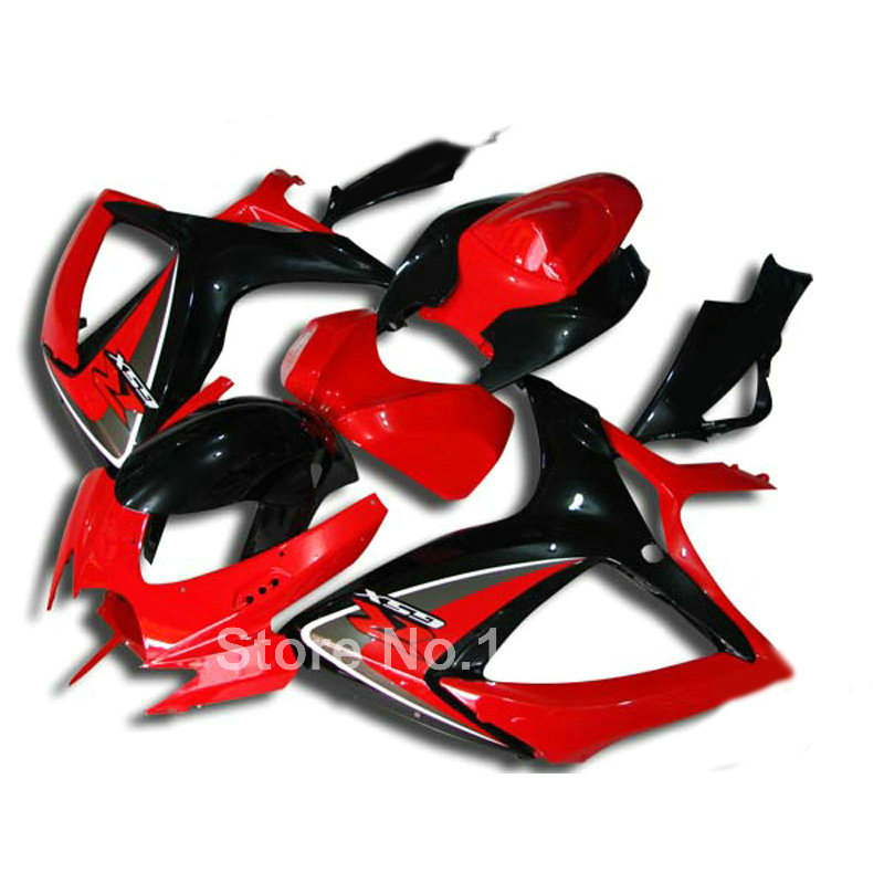 Injection fairing kit for SUZUKI GSX-R 600/750 K6 2006 2007 red black GSXR600 GSXR750 06 07 high grade fairings set XG93