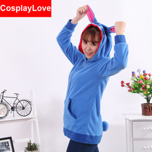 Blue Stitch Coral Long Sleeve Animal Adult Hoody Sweatshirts Sweater Cosplay Costume For Party Wear Halloween Christmas Gift