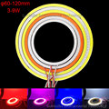 2pcs/lot 60mm-120mm Angel Eyes COB Lamp DRL LED Daytime Running Light with Driver 5W DC 12-14V for Motorcycle Car Headlights