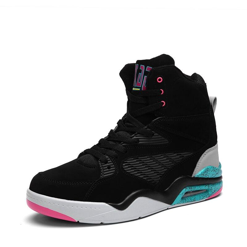 Basket chaussures hommes baskets chaussures haut à lacets cheville chaussures coussin d'air antichoc basket baloncesto