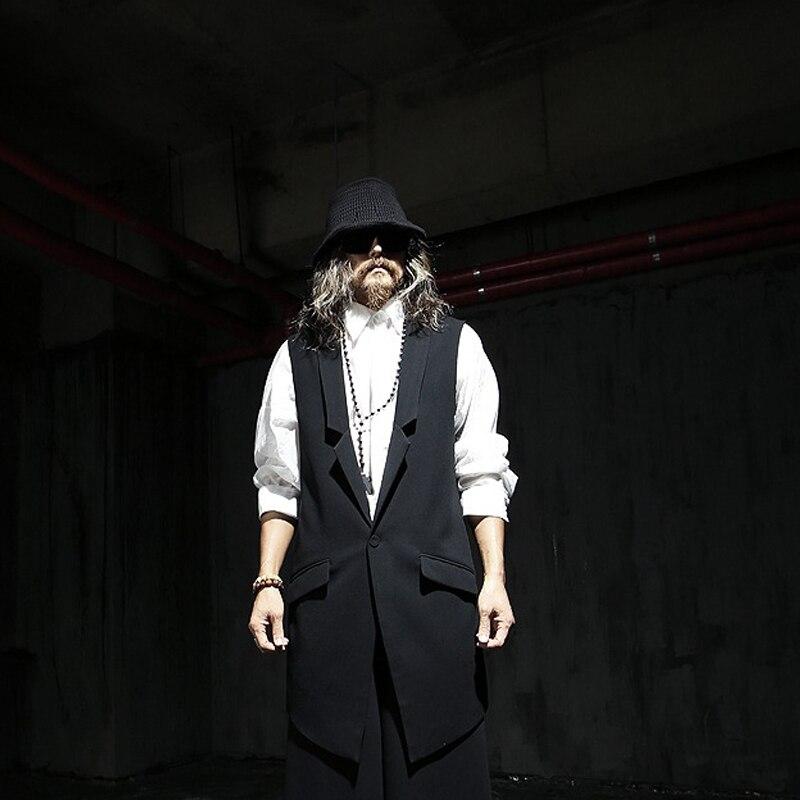 Et blanc Gilet De Mince Vêtements Black Costumes Xs4xlPrintemps Scène DécontractéPlus Masculine Automne La Taille Mode Hommes Chanteur Moyen Long IHD29E