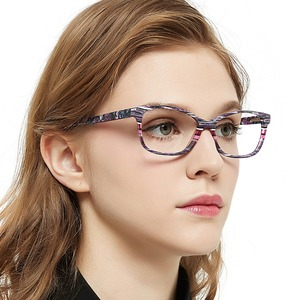 Image 2 - แฟชั่นลาย Clear กรอบแว่นตาผู้หญิง Vintage Presbyopia แว่นสายตาสายตาสั้นกรอบแว่นตา Nerd กล่อง MARE AZZURO AMOS