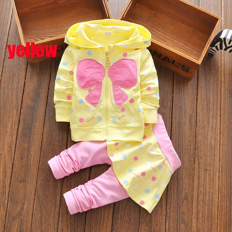 hot toddler girl set kids winter children heart bow clothes set bowknots baby girls tracksuits sweatshirts and pants outfit set 2016 hot selling baby kids girls one piece sleeveless heart dots bib playsuit jumpsuit t shirt pants outfit clothes 2 7y