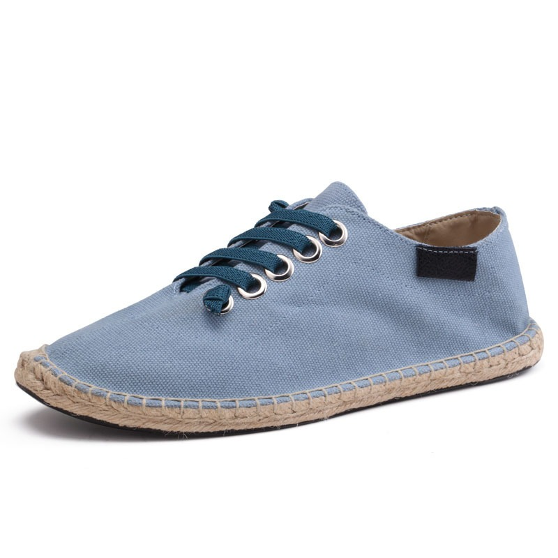 171e8397d7d Peking Lente Zomer Boten Schoenen Hennep Canvas Sneakers Lace Up Ademende  mannen Flats Espadrilles Mode Toevallige