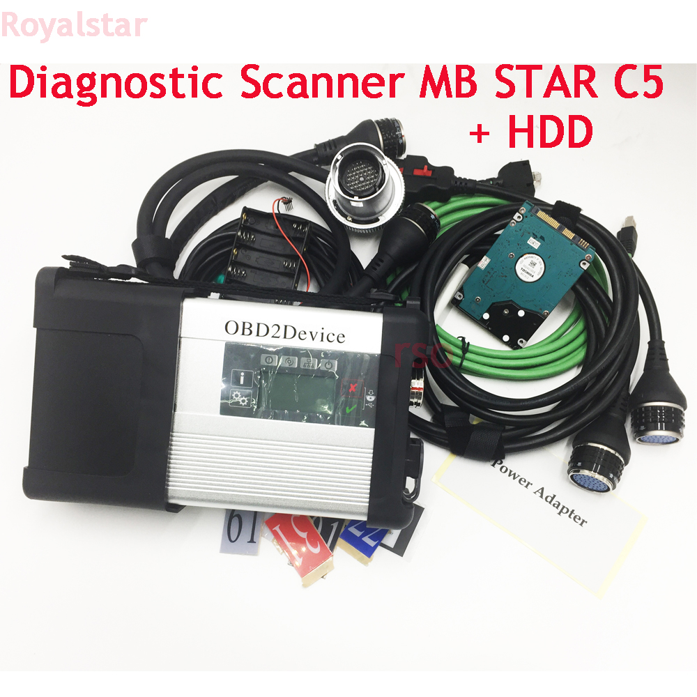 Super mb star C5 with HDD V09.2018 software add special function for MB car truck buss diagnostic MB C5 sd Connect wifi Support цена