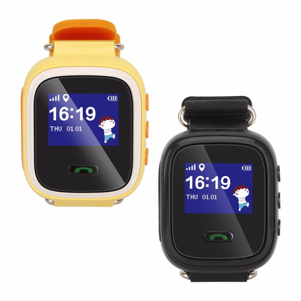Q60 GPS relojes bebé reloj inteligente pasómetro para los Niños SOS llamada ubicación localizador del buscador de rastreador Anti perdido Monitor Smartwa