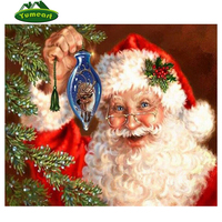 2015 New DIY 3D Diamond Painting Christmas Gift Rhinestones Mosaic DMC Cross Stitch Kit Diamond Embroidery