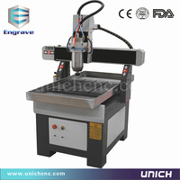Low price unich 6090 cnc router stone working machines
