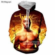 цена на Rapper 2PAC TuPac 3D Print Jacket Women/men Hip Hop Pullover Streetwear Hoodie Man Cool Hood Sweatshirts Gold Tracksuits Clothes