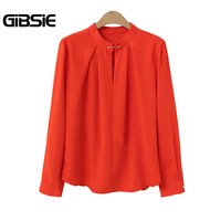 GIBSIE Plus Size Women Clothing 5XL 4XL 3XL Office Women Shirts 2018 Spring New Korean Ladies