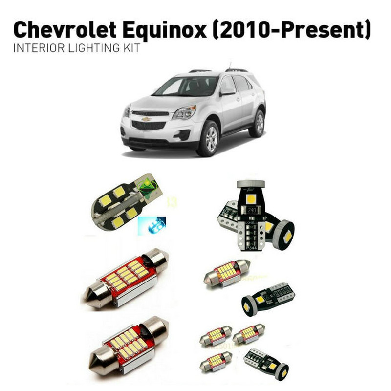 Led interior lights For Chevrolet equinox 2010+  11pc Lights Cars lighting kit automotive bulbs Canbus Error Free