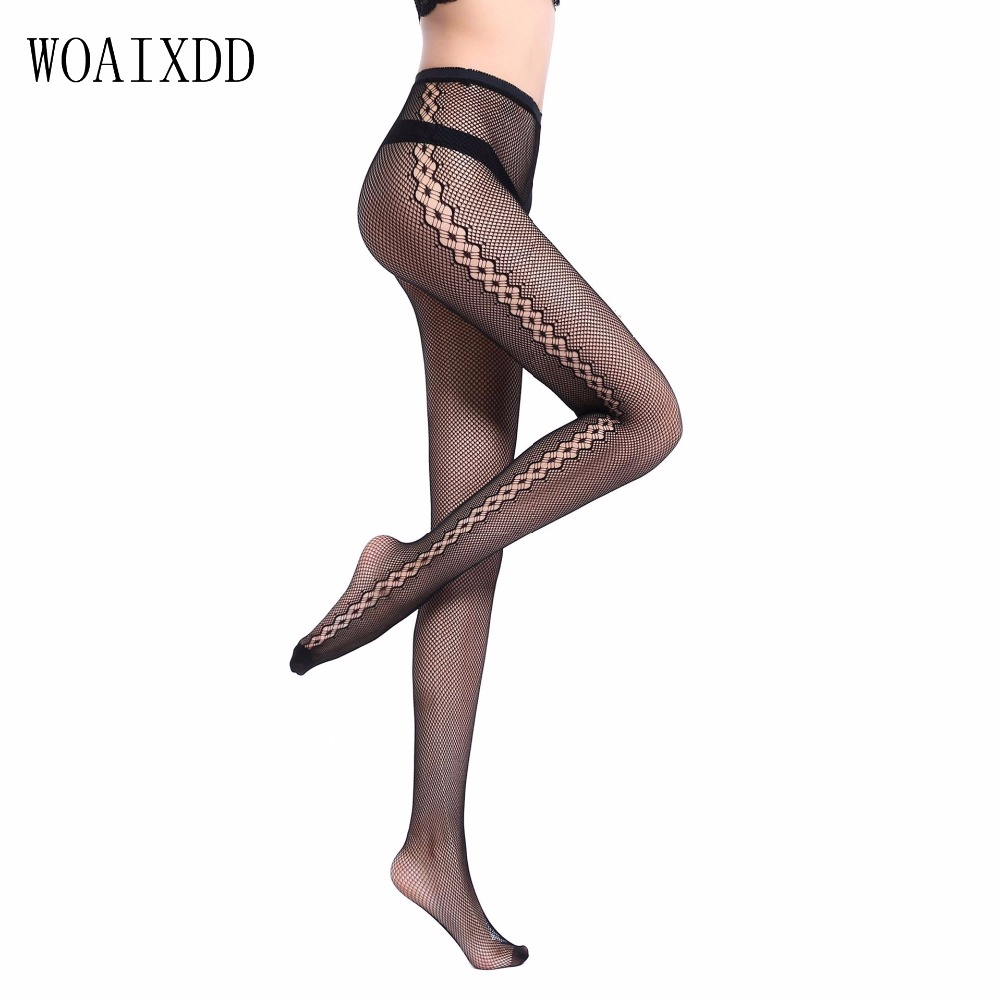 Sexy Womens Stockings Pantyhose Female Sexy Stockings Tights For Girls Transparent Nylon Stocking Flowers With a Pattern