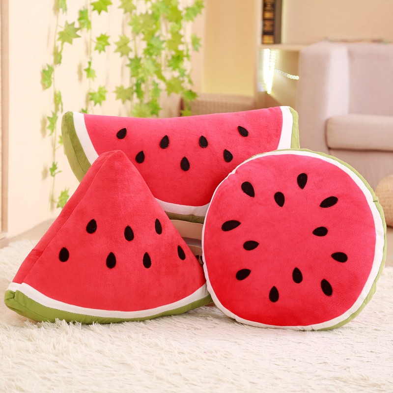 1 Pcs Simulatie Watermeloen Kussen Multi Vorm Soft Gevulde Kussen Knuffel Cool Fruit Levensechte Home Decor Kids Leuke Geschenken Zowel De Kwaliteit Van Vasthoudendheid Als Hardheid Hebben