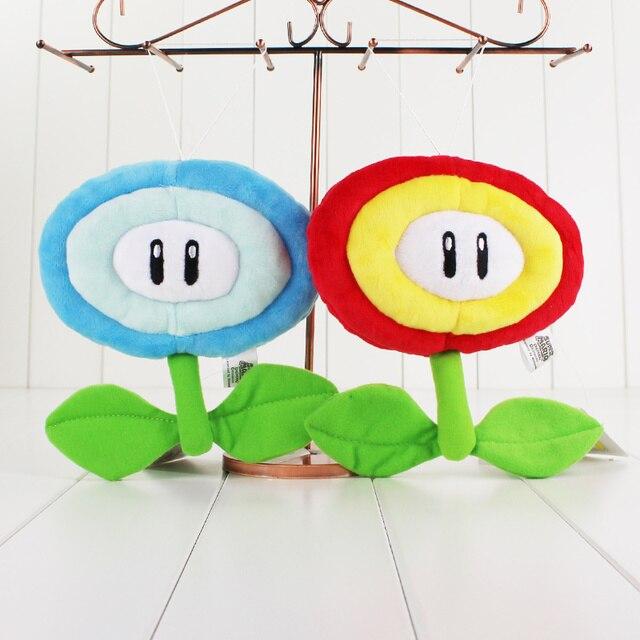 2 Style 17 Cm Super Mario Bros Fleur De Glace Feu Fleur En Peluche