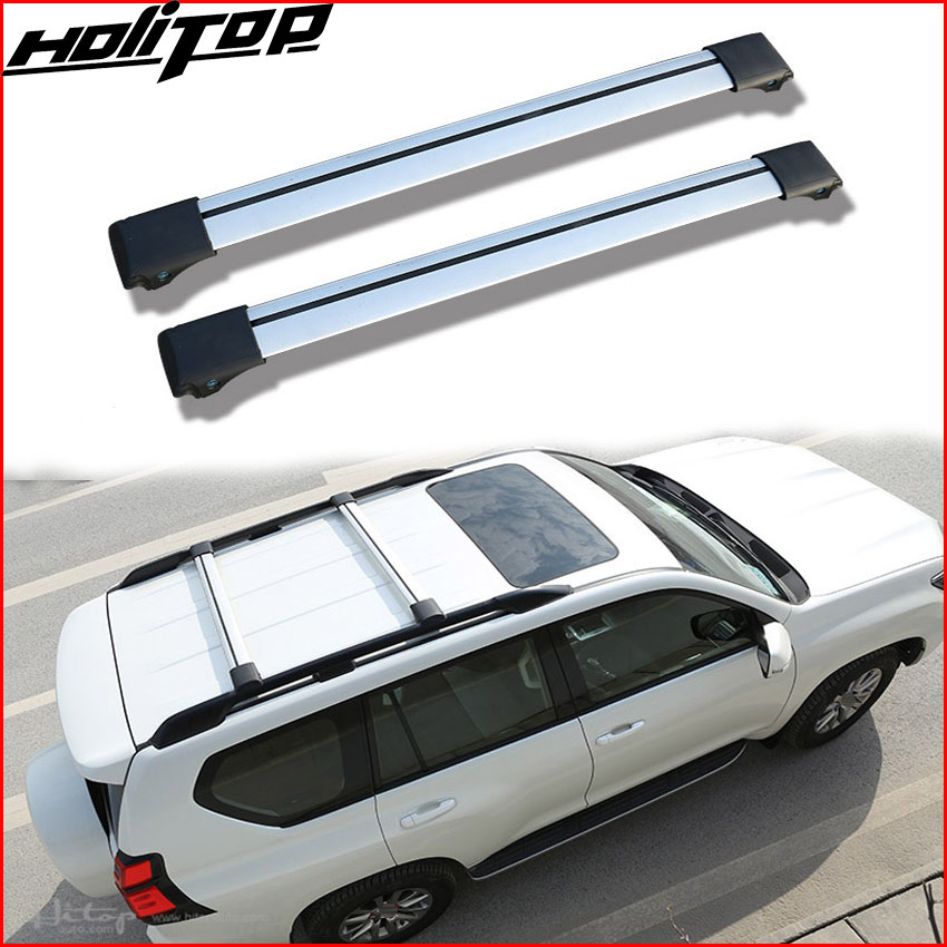 цена на Top roof rack/roof rail luggage cross bar cross beam for Toyota Land Cruiser PRADO FJ150 FJ120 KDJ etc, quality supplier