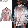 Embroidery Printed Women Souvenir Jacket Famous Brand Pink Embroidered Bomber Jacket Men Streetwear Kate Moss Jackets SMC0422-5