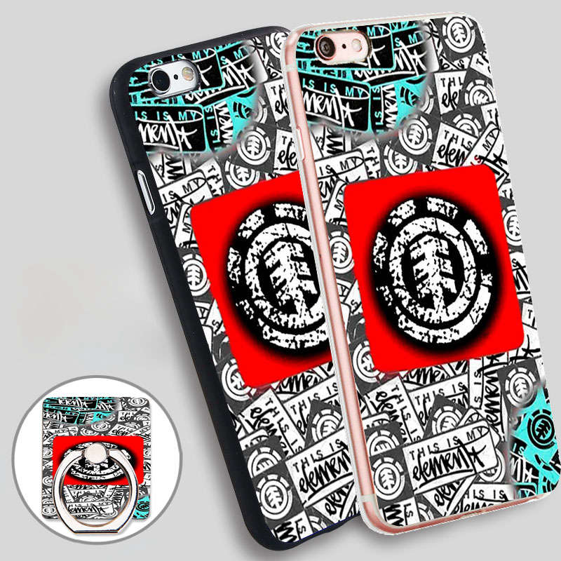 Element Soft TPU Silicone Phone Case Cover for iPhone 4 4S 5C 5 SE 5S 6 6S 7 Plus