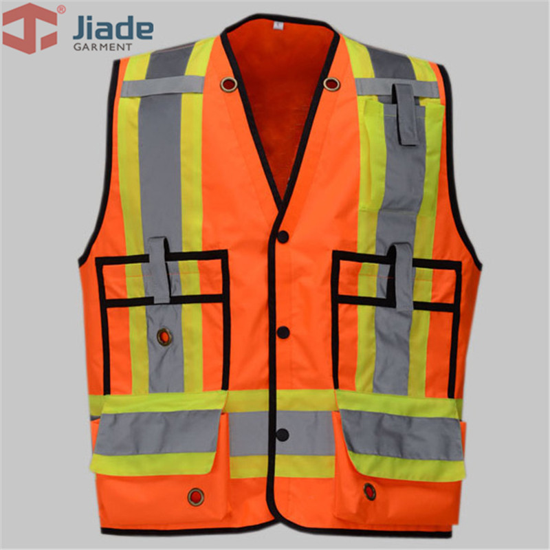 Jiade High Quality High Visibility Reflective Vest Working Clothes Outdoor Reflective Safety Clothing free shipping
