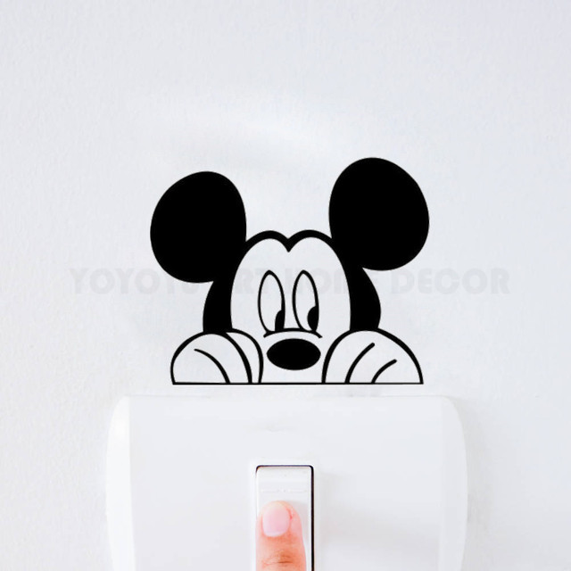 Mickey Mouse Vinyl Wall Decal Children Room Light Switch Stickers