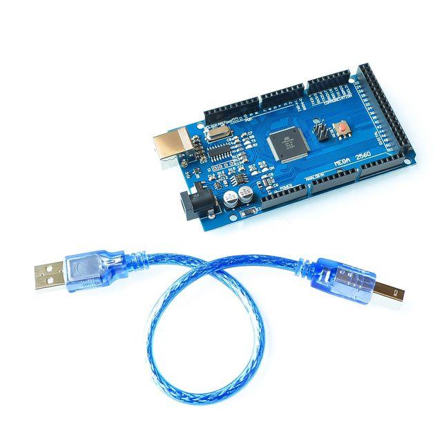 Бесплатная доставка и лучшие цены! Мега 2560 R3! ATmega2560 AVR USB доска + бесплатная USB кабель (ATMEGA2560/CH340) 2560