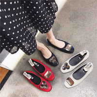 Women Flats Cool Golden Flat Shoes ladies Loafers Ballet Flats Suede Metal Chain Shoe girl Casual Pointed Toe Slipon
