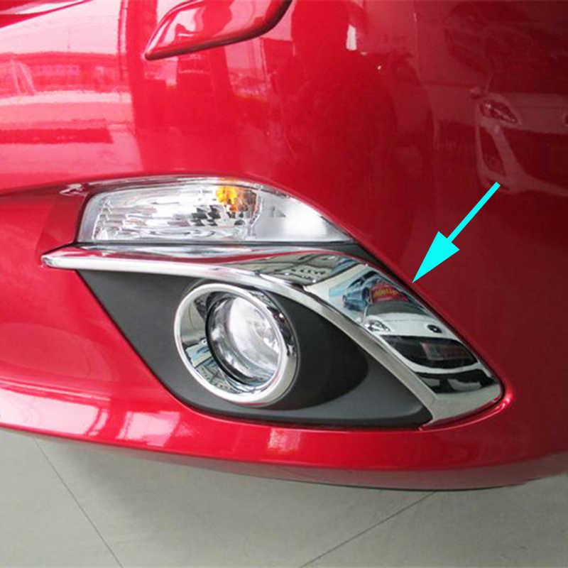 ل مازدا 3 Axela BM 2014 2015 2016 سيدان الكروم الضباب ضوء مصباح غطاء مرآة جانبية تقليم الخلفي جذع قطاع الديكور سيارة التصميم