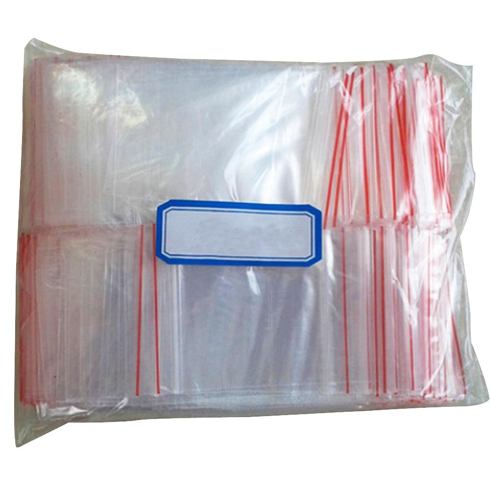 100 pcs sachet pochette transparent en plastique fermeture. Black Bedroom Furniture Sets. Home Design Ideas