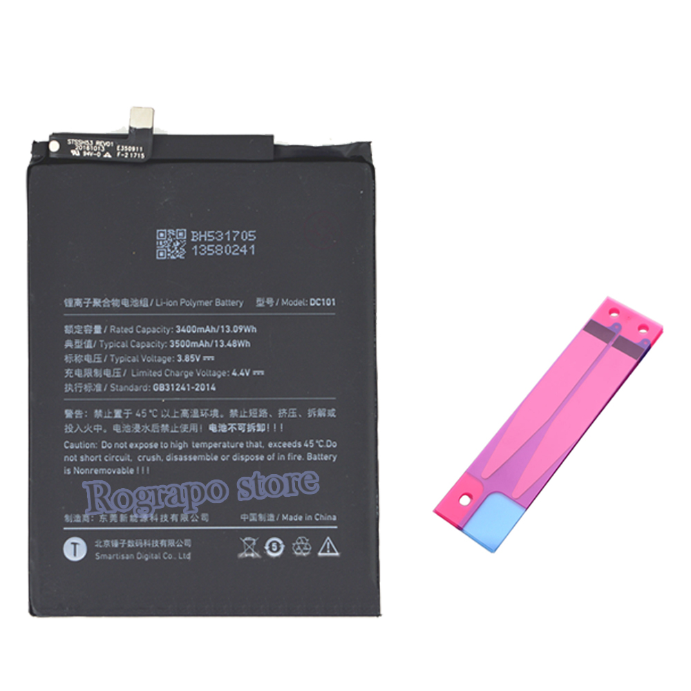 Сменный аккумулятор 3500 мАч DC101, аккумуляторы для Smartisan Jianguo Nut Pro U1 Pro OD103 OD105 OD101, аккумуляторы для мобильных телефонов