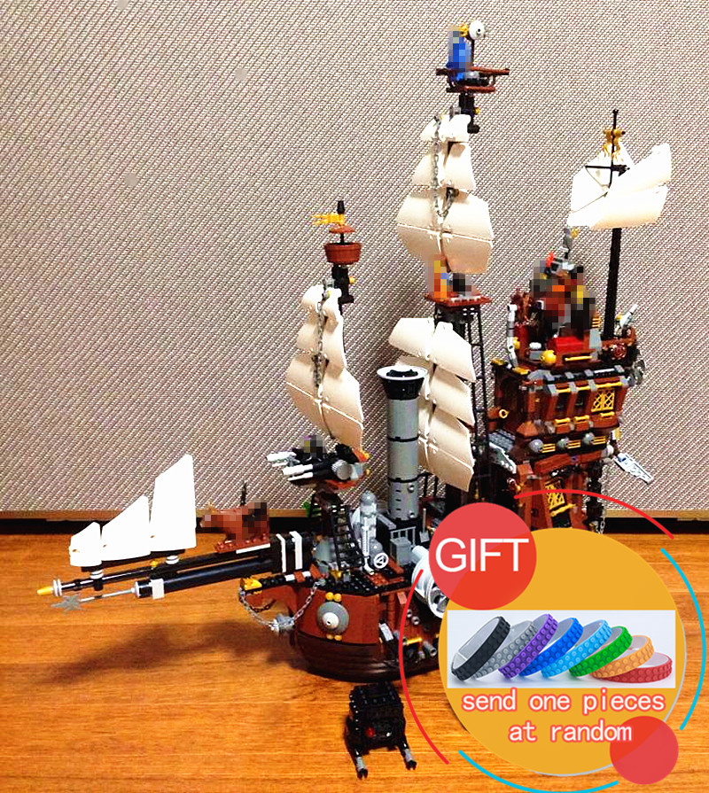 16002 2791Pcs Pirate Ship Metal Beard's Sea Cow Model Building Kits Mini Compatible With 70810 toys free shipping lepin 2791pcs 16002 pirate ship metal beard s sea cow model building kits blocks bricks toys compatible with 70810