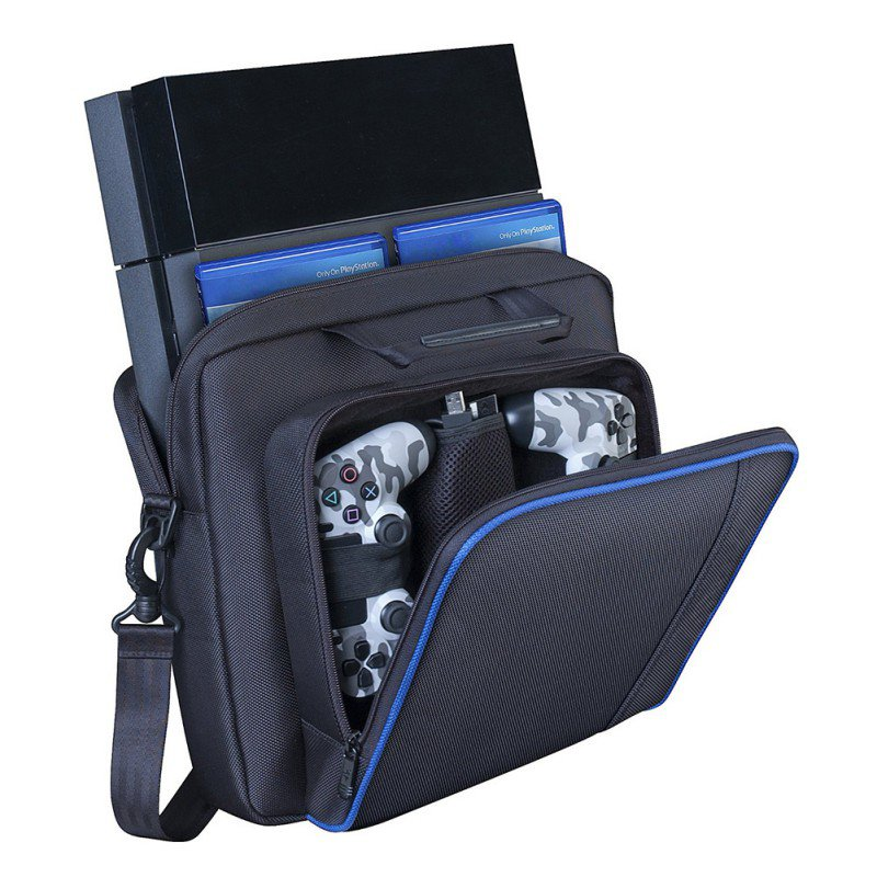 Outdoor PS Game Console Receiving Backpack VR Storage Organizer Pouch Data Wire Hiking Camping Outdoor Bag One Shoulder