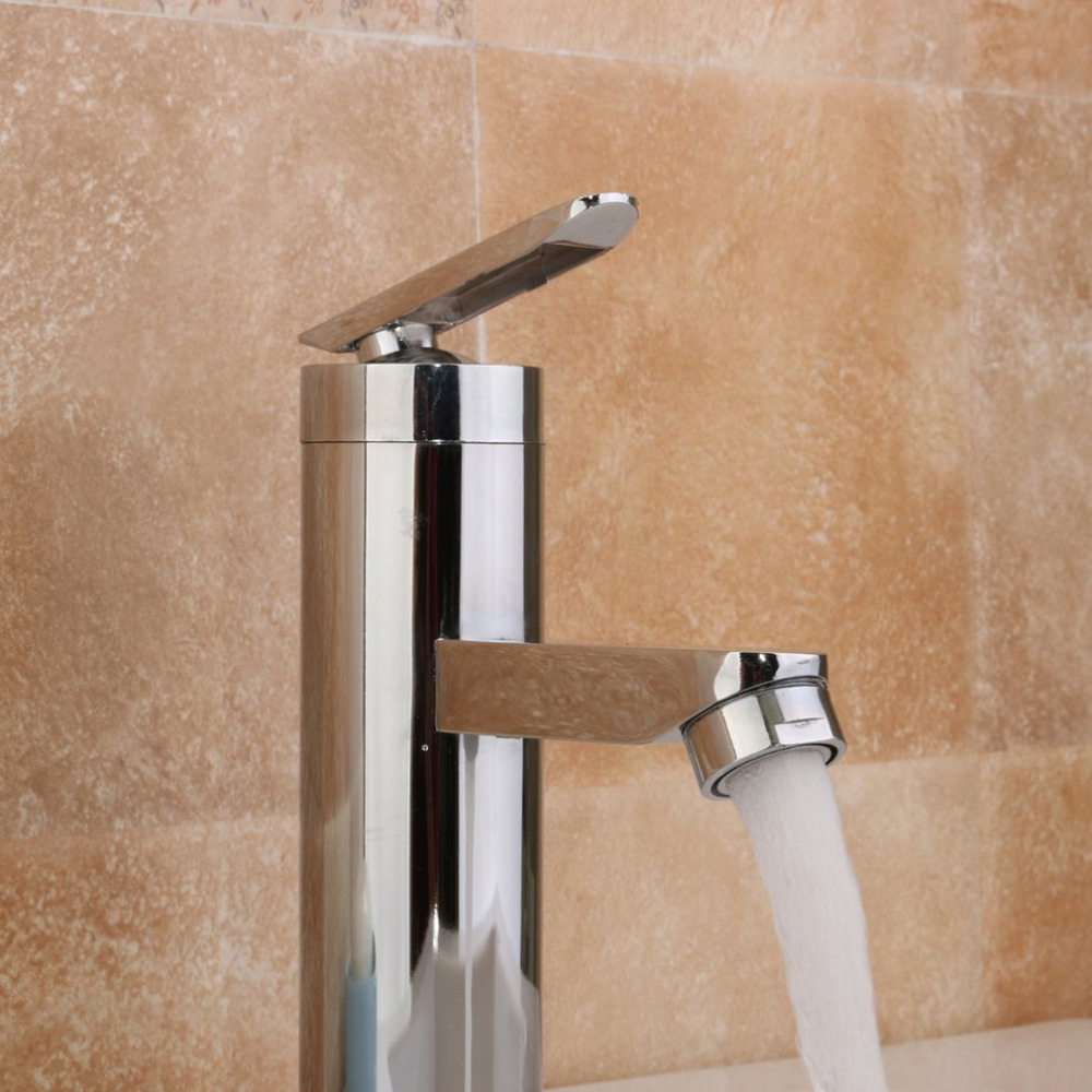 Bathroom Basin Faucet Cold Hot Water Mix Deck Mounted