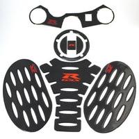 K SHARP Carbon ADESIVI 3D Sticker Decal Emblem Protector Tank Pad stompgrip For SUZUKI GSXR 600 750 06 12 / GSXR1000 07 08