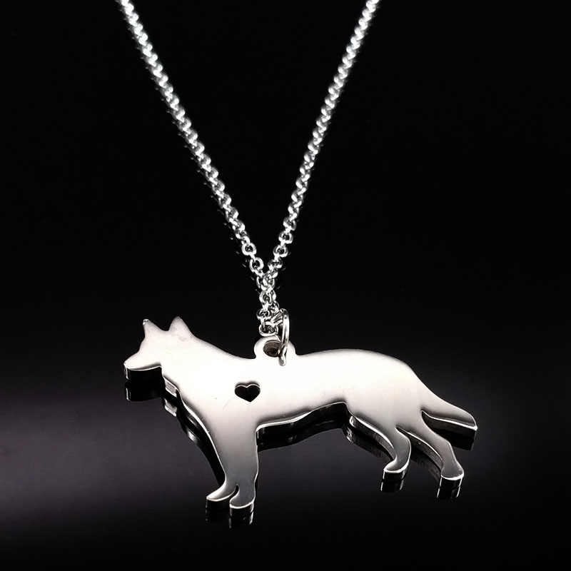 Best Friend German Shepherd Necklace Jewelry For Women Men Dog Necklaces & pendants Collar Jewelery collier femme bijoux N72204B