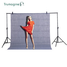 TRUMAGINE 1.6X2M/5.2X6.5ft Gray Screen Photo Background Photography Studio Backdrops Non Woven Solid Color Chroma key Backdrop