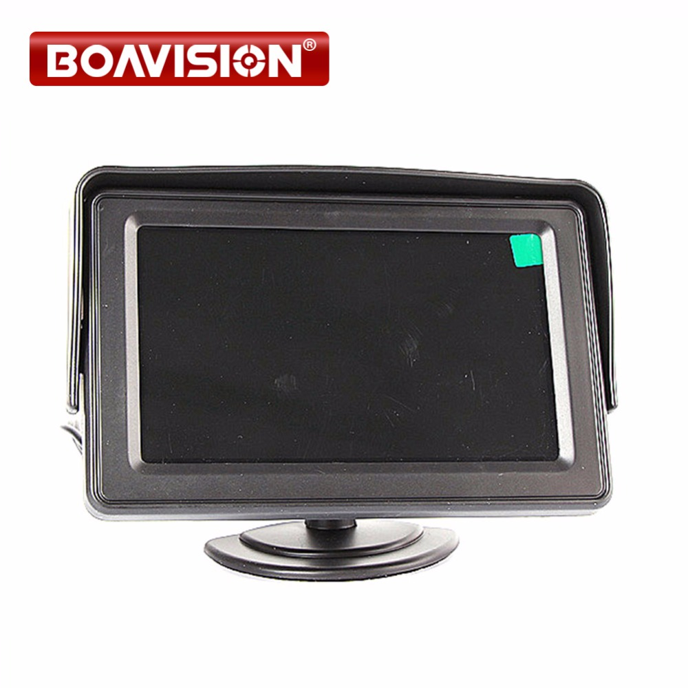 4.3 Inch Display TFT Color LCD Monitor CCTV Camera Monitor 2 AV Input, 1 Way For Rear View diysecur 4pin dc12v 24v 7 inch 4 split quad lcd screen display rear view video security monitor for car truck bus cctv camera