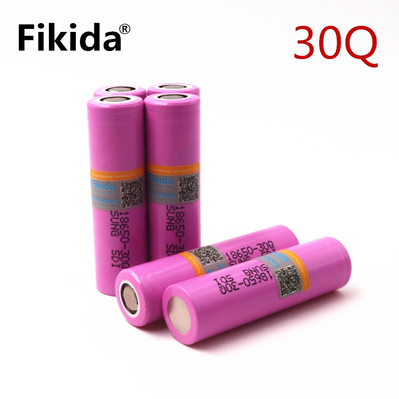 купить 4PCs Original For Samsung 18650 3000mah Battery INR18650 30Q 20A Discharge Li-ion Rechargeable Battery for E-cigarette по цене 889.26 рублей