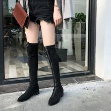 Women's Suede Leather Front Zip Knee High Knight Boots Brand Designer Flats Winter Long Boots Fashion Tall Boots Shoes(China)