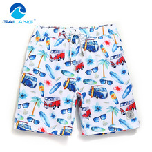 Gailang Brand Men Beach Shorts Board Boxer Trunks Short Casual Quick Drying Bermuda Short Bottoms Pants