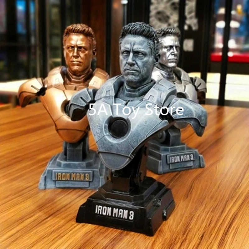 Avengers Infinity War Superhero Tony Stark Iron Man MK7 1/4 Resin Bust bust Ornaments Home Decoration 23cm цена